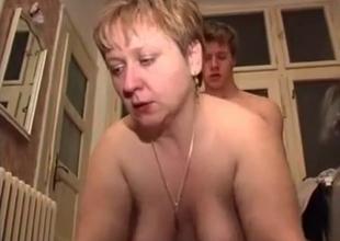 Chubby Russian mom jiggly incest