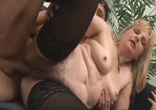 Mature mommy takes hard anal pounding