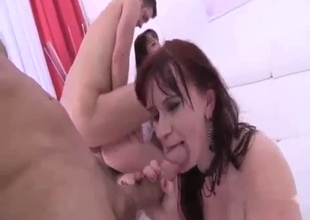 Mom and daughter film in gonzo porn