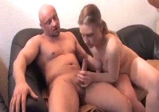 Pounding sweet daughter in toilet