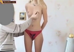 Super cute blonde seduced by dad