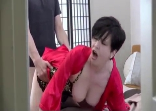 Sex hungry tepmom fucked by the son