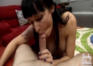 Indecent mom-son blowjob behavior