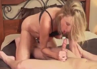 Luscious busty mom banged from behind
