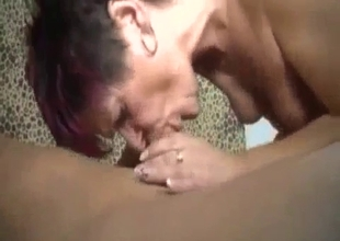 Mom gets her mouth poked and loves it