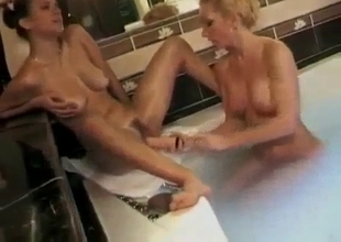 Two lesbian relatives fucking good