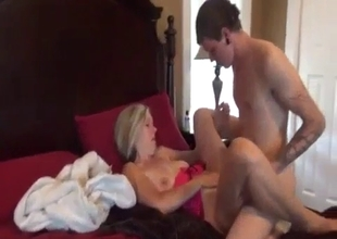 Two young sons bang the MILF