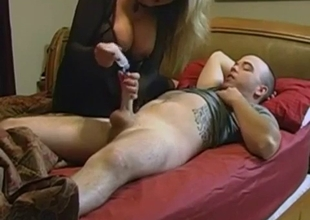 Son's dick attracted a big tit woman