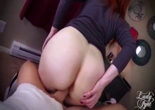 Mom sits on hard cock in POV