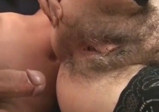 Affectionate hairy ass fucked deep
