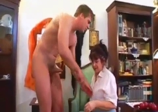 Mother gets a taste of a dick