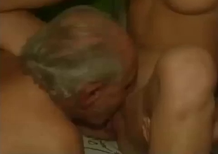 Grandpas gets young pussies fucked