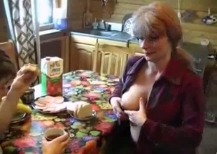 Mother shows her perfect tits