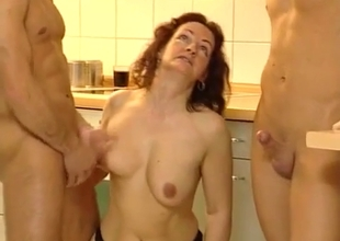 Hot mom is overwhelmed with cocks