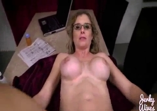 MILF playing with that big cock