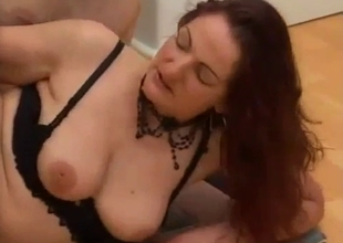 MILF in lingerie riding on top