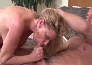 Fascinating MILF fucks macho son