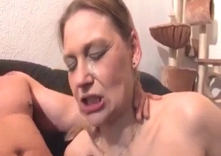 Mother swallows sweet and hot cum