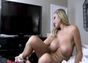Mother blows a dick in POV session