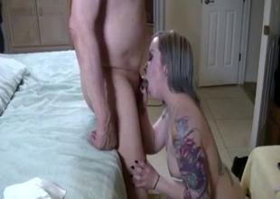 Libidinous slut and her old client