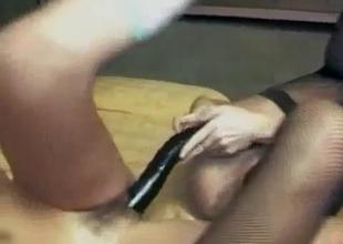 Giant double edge dildo for lesbians