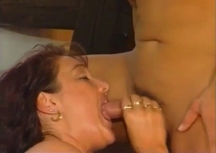 Mom gets her juicy pussy eaten by son