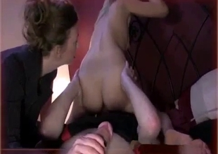 Big ass mother rides a blindfolded son