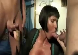 Busty MILF becomes our personal slut