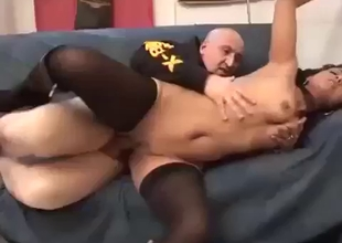 Teen girl and her bald father