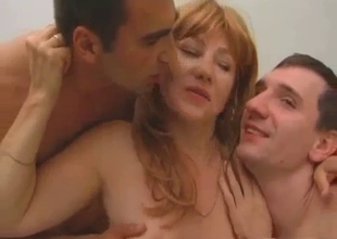 Tag teamed mature gets fuck and cum