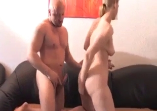 Bald uncle turned this blonde on