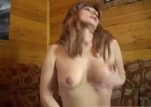 Young son with his big tit horny mother