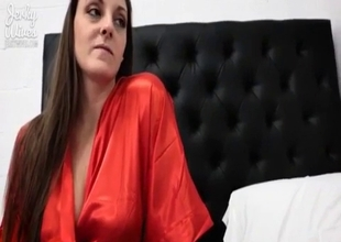 Ma with sexy face and giant tits fucked POV