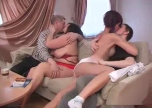 Full family sex assembly in a hot incest
