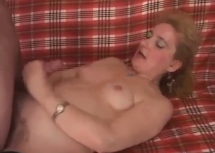 Hard sex with mature in stockings