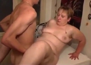 Young son licking loose mature cunt