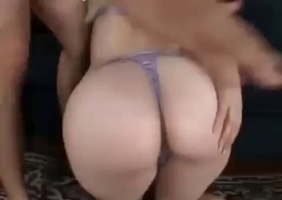 Superb pale phat young ass slapped