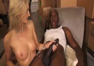 Daughter gets thrilled by black stepfather's cock
