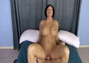 Sensual porn scene with giant boob mom