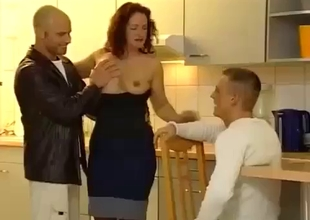 Son joins his mom in threesome