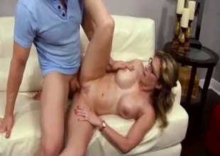 Deep anal sex with a very hot MILF